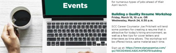 Salem Community College Career Services March Events
